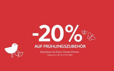 Citroën -20% auf FRÜHLINGSZUBEHÖR