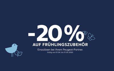 Peugeot -20% auf FRÜHLINGSZUBEHÖR