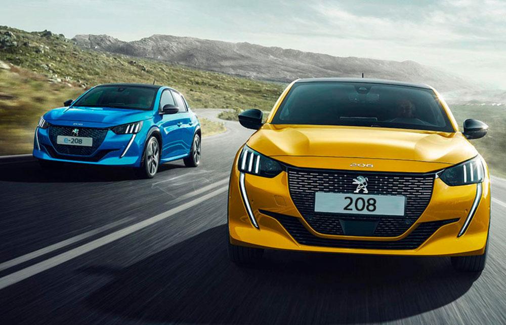 Peugeot 208 und Peugeot e-208