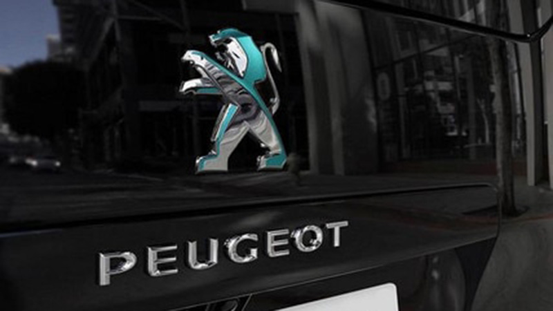 Peugeot Logo Heck