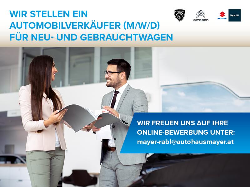 Wir stellen ein Automobilverkäufer für Neu- und Gebrauchtwagen