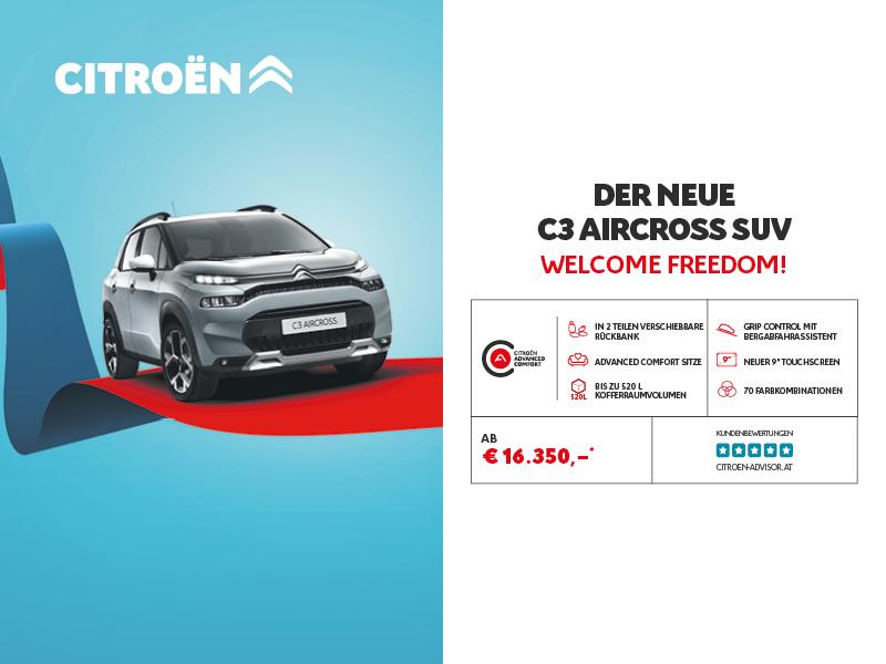 Der neue Citroën C3 Aircross SUV