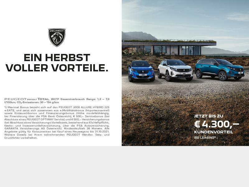 Peugeot - ein Herbst voller Vorteile